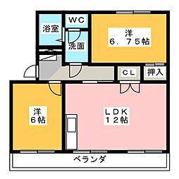 第2田畑ハイツ[2階]の間取り