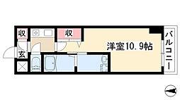 愛知県名古屋市守山区瀬古東1丁目の賃貸マンションの間取り