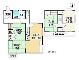 近鉄大阪線 室生口大野駅 徒歩11分 4LDKの間取り