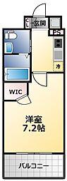 アービングNeo平野駅前 5階1Kの間取り