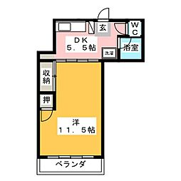 トリス岐阜[4階]の間取り