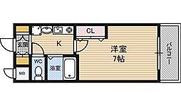 エスリード新梅田[3階]の間取り