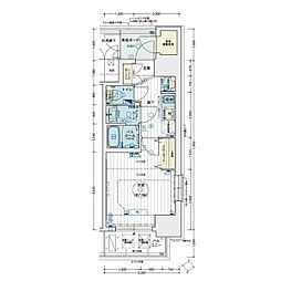 名古屋市営名城線 矢場町駅 徒歩8分の賃貸マンション 9階1Kの間取り