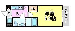 レジュールアッシュ尼崎駅前[10階]の間取り