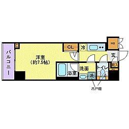 JR中央本線 四ツ谷駅 徒歩8分の賃貸マンション 7階1Kの間取り