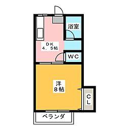 ハイツフォレスト[2階]の間取り