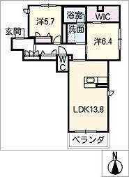 アーバン ビレッジ 2階2SLDKの間取り