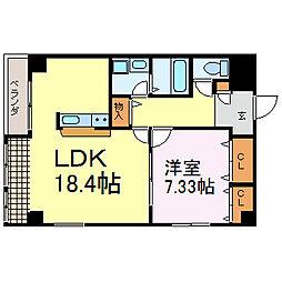 愛知県名古屋市中区大須2丁目の賃貸マンションの間取り