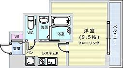 Osaka Metro千日前線 日本橋駅 徒歩9分の賃貸マンション 7階1Kの間取り