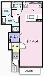 兵庫県姫路市飾磨区今在家6丁目の賃貸アパートの間取り
