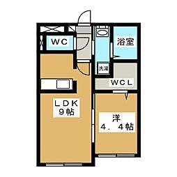 Floresta43[2階]の間取り