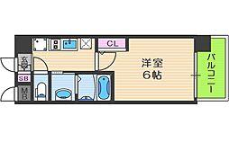 エステムコート中之島GATEII 3階1Kの間取り