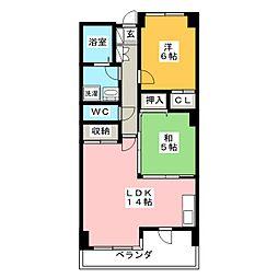 C・Y・WEST 205[1階]の間取り