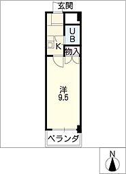 ウインバードM・K[3階]の間取り