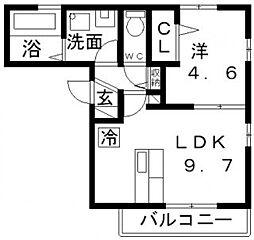 アビコシオン[3階]の間取り