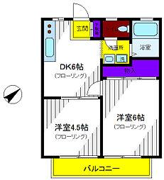 リリエンハイツ[2階]の間取り