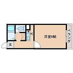 奈良県大和高田市西三倉堂1丁目の賃貸マンションの間取り