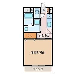 茶花[3階]の間取り