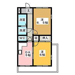 ローズマンション[2階]の間取り