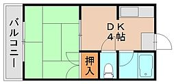 グリーンハイツ光吉[1階]の間取り