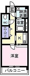 シャンベルジュKT[1階]の間取り