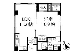 LE VENT/ル・ヴォン 5階1LDKの間取り