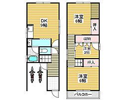 [一戸建] 大阪府堺市西区上野芝向ヶ丘町4丁 の賃貸【/】の間取り