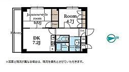シャンブル武蔵浦和[3階]の間取り