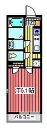 埼玉県さいたま市浦和区本太4丁目の賃貸マンションの間取り
