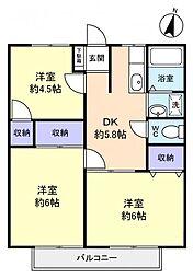 クレスト21A[2階]の間取り