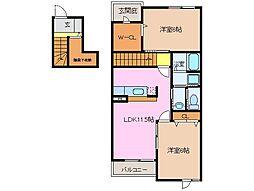 トワニー・KII[2階]の間取り