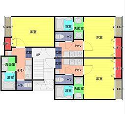 JR武蔵野線 東浦和駅 徒歩12分の賃貸アパート 1階1Kの間取り