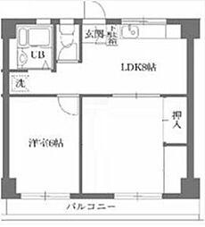 古澤マンション[2階]の間取り