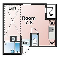 リバティ東向島2[3階]の間取り