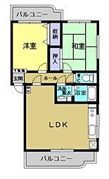ユーミーマンション三浦[101号室]の間取り