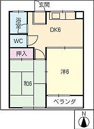 昭栄コーポ[3階]の間取り