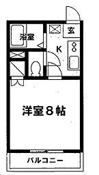 ルパルク松ヶ枝[2階]の間取り
