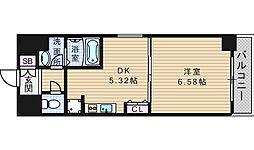 KWレジデンス九条II[6階]の間取り