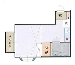 東京都町田市成瀬台1丁目の賃貸アパートの間取り