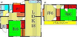 [一戸建] 千葉県我孫子市青山台2丁目 の賃貸【/】の間取り