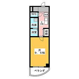 エムロード[1階]の間取り