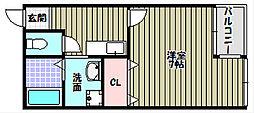 ヴィーブル桐山[3階]の間取り