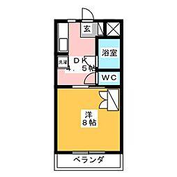 キャッスルバンブー[2階]の間取り