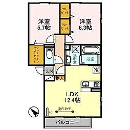 仮称 D-room朝霞市膝折町2丁目[3階]の間取り