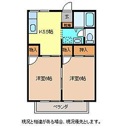 プレジール北澤B棟[2階]の間取り