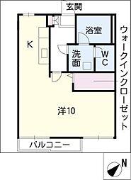 コーポ城西[2階]の間取り