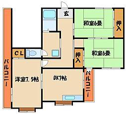 ブレッシングマンション[6階]の間取り