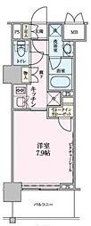 ロイジェントパークス赤坂 5階1Kの間取り