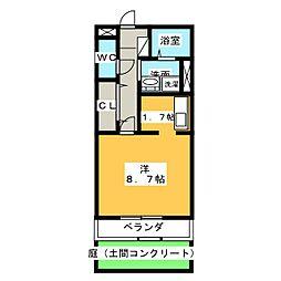 レジェンド横田[1階]の間取り
