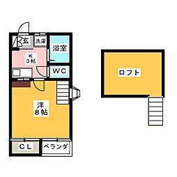 III大嶋レジデンスD[1階]の間取り